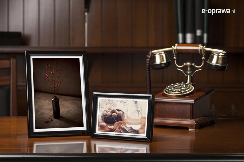 Rama do obrazów i zdjęć kruczoczarna połyskowa Ren AA