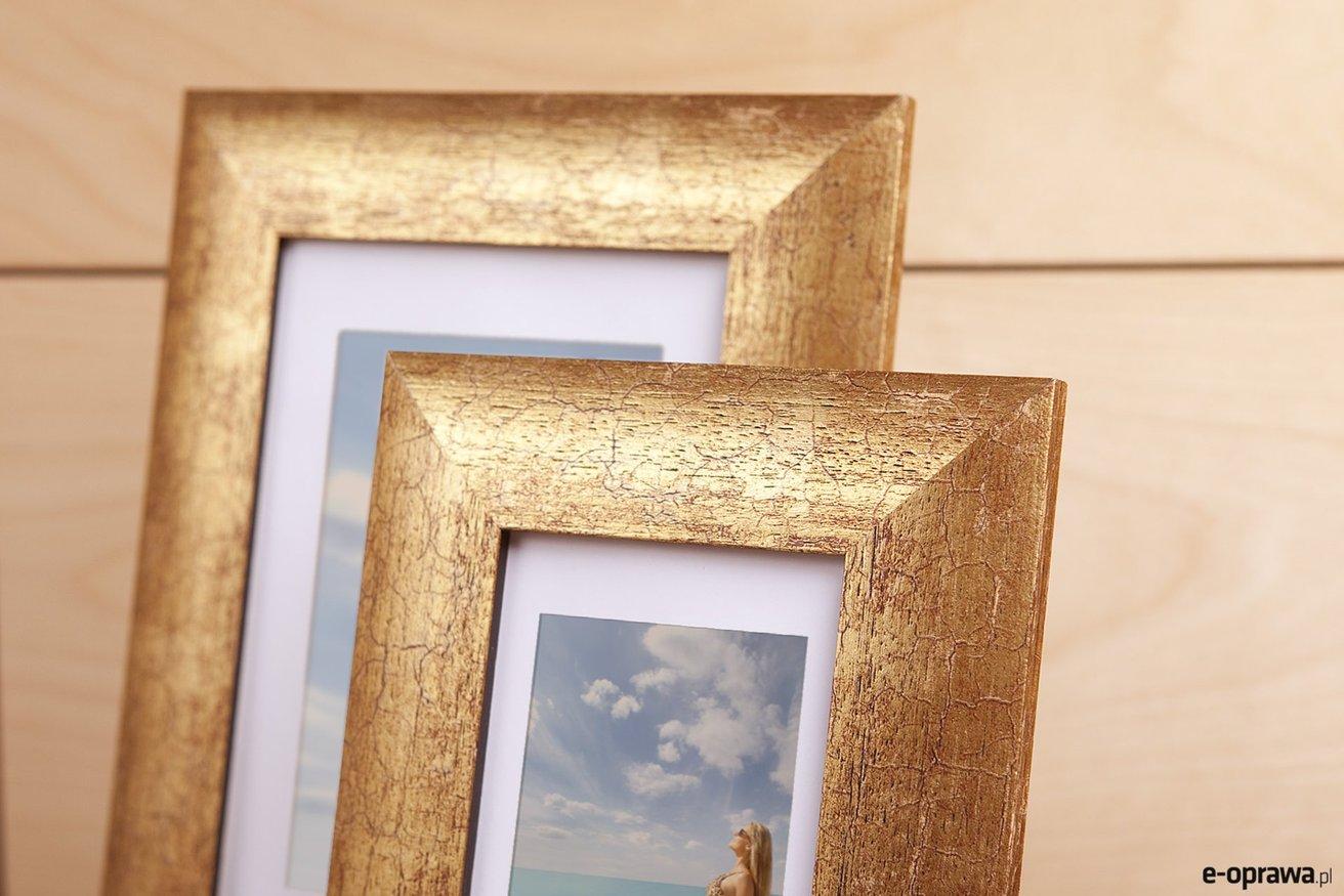 Rama do obrazów i zdjęć złota popękana Daria AA