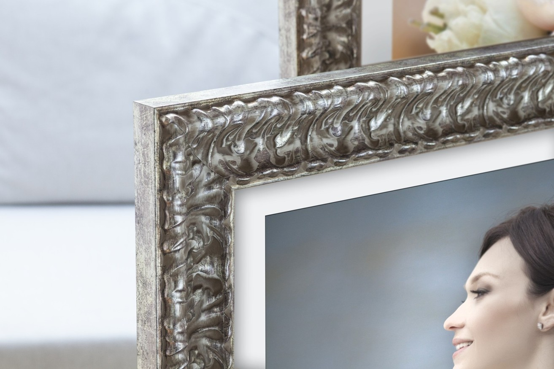 Rama do obrazów i zdjęć stare srebro z ornamentem  Hannah AE