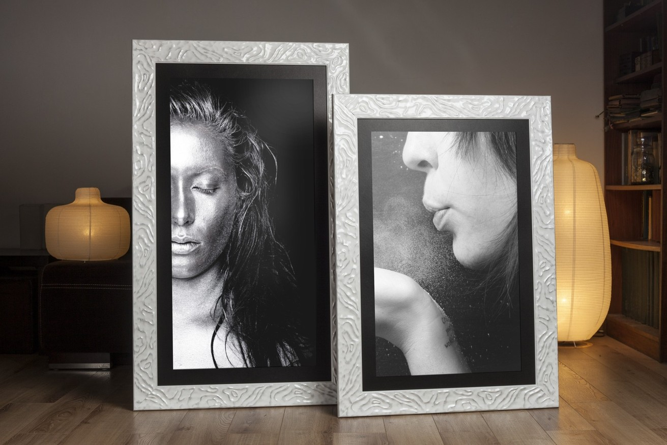 Rama do obrazów i zdjęć biała przecierana Vanessa AA