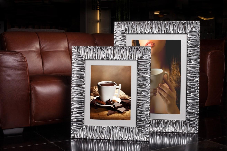 Rama do obrazów i zdjęć glamour pomarszczona Mediolan AA