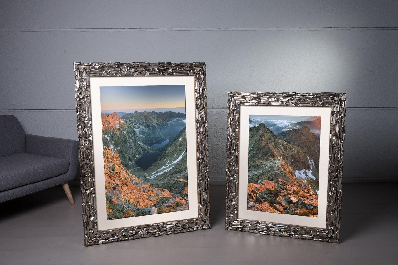 Rama do obrazów i zdjęć srebrna wyżłobiona Fondo AB