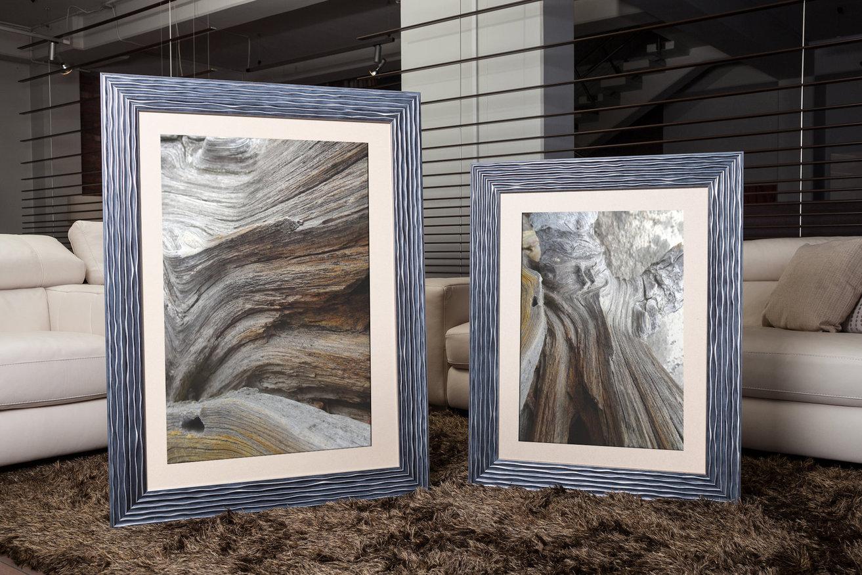 Rama do obrazów i zdjęć w srebrne pofalowane paski Isabela AC