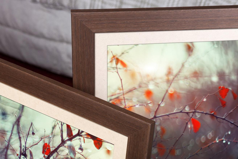 Rama do obrazów i zdjęć brązowa drewniana Otylia AA