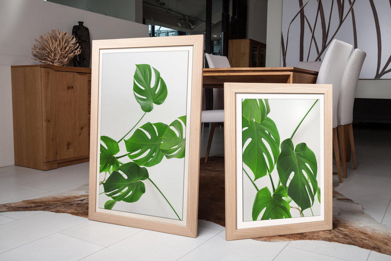 Rama do obrazów i zdjęć jasnobrązowa drewniana Otylia AC