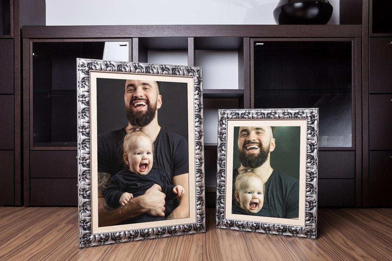 Rama do obrazów i zdjęć srebrno-czarna pokarbowana Sewilla AB