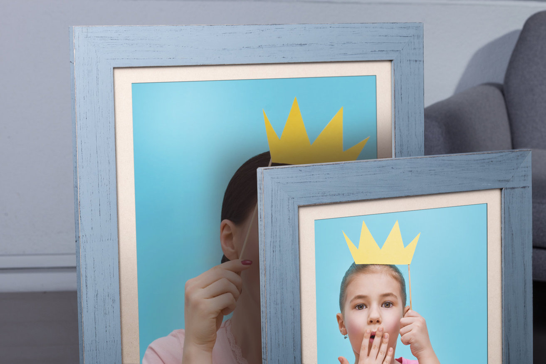 Rama do obrazów i zdjęć błękitna przetarta Wera AC