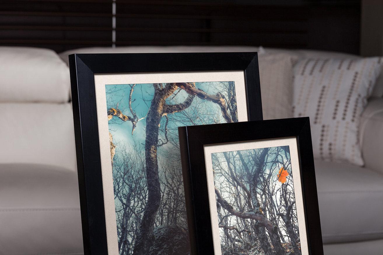 Rama do obrazów i zdjęć kruczoczarna matowa Salma AB