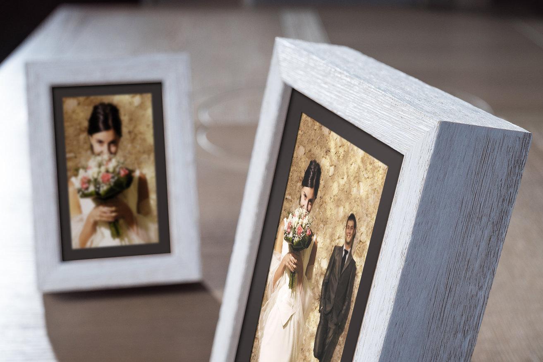 Rama do obrazów i zdjęć biała ręcznie malowana Dikaja AA