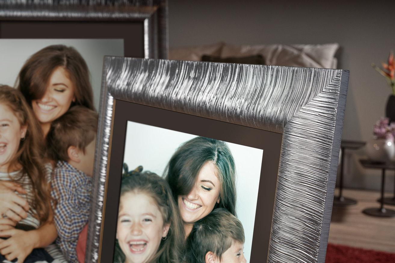 Rama do obrazów i zdjęć srebrna wypaskowana Plata AA
