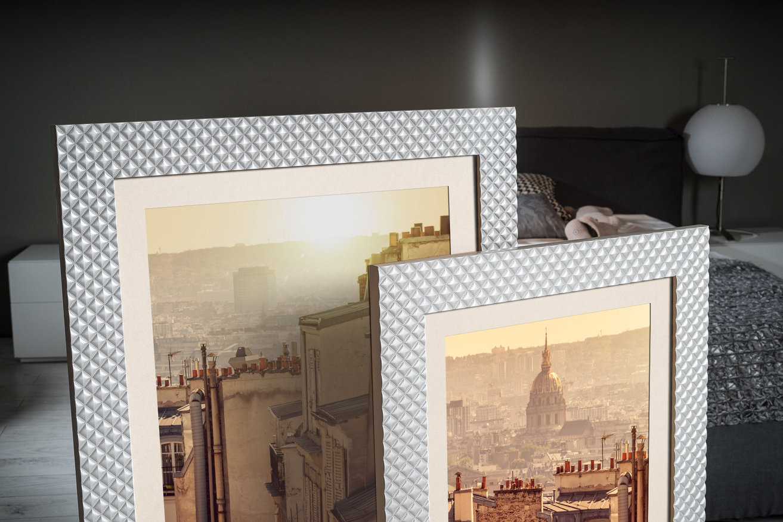 Rama do obrazów i zdjęć perłowa w poduszeczki Sofia AA