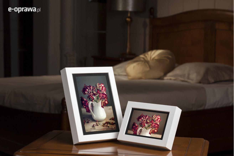 Rama do obrazów i zdjęć biała drewniana Vegas AC