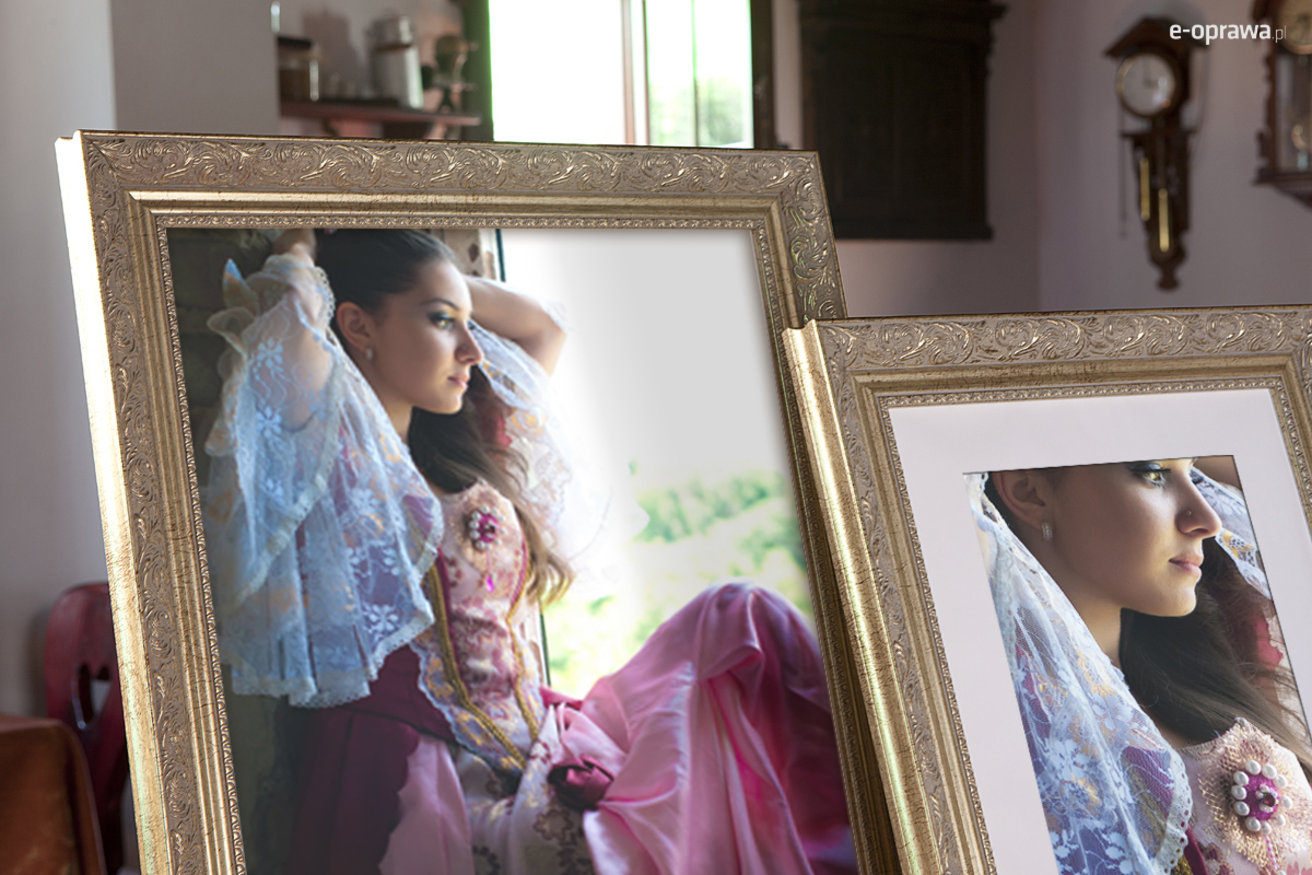 Rama do obrazów i zdjęć stare srebro ornamentowa Jennifer AA