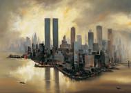 Świetlne refleksy nad Manhattanem