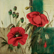 Red poppies composition II