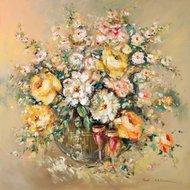 Toast z kwiatami
