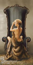 Siedząca piękność