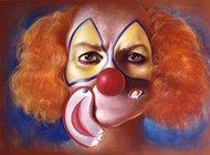 Klaun z oderwanym uśmiechem