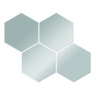 Płytki lustrzane plaster miodu III