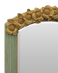 Lustro w ramie z kwiecistym ornamentem TZ134