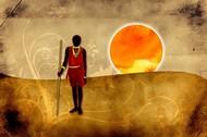 Afryka w ciepłych odcieniach słońca