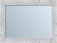 Lustro w ramie białej ze srebrnym refleksem Bella AA