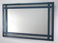 Lustro w szklanej ramie niebieskiej Laguna 59