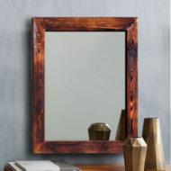 Lustro w ramie z drewna sosnowego Handmade 13