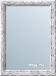 Lustro srebrne w pofalowanej ramie Isabela AA