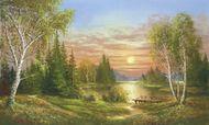 Wspaniały zachód słońca