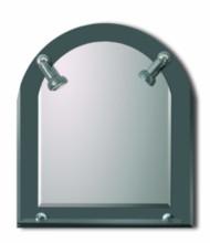 Lustro srebrne z dwoma lampeczkami SL057B