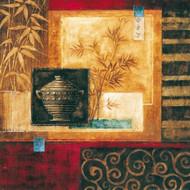 Martwa  natura z wazą i bambusem II