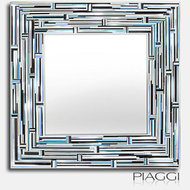 Lustro w ramie Piaggi Barbarella square Blue