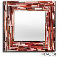 Lustro w ramie Piaggi Barbarella square Red