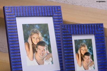 Rama niebieska w brązowe paski Samba HD