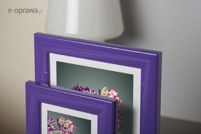Rama do obrazów i zdjęć fioletowa połyskowa Todi AF