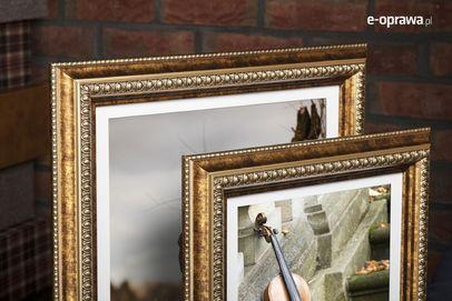 Rama do obrazów i zdjęć postarzana z plecionką Bassa AB