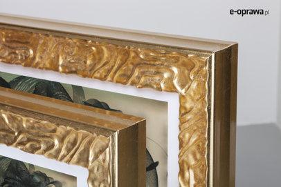 Rama złota z pofalowanym ornamentem Larisa AB