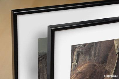 Ramka na zdjęcia i obrazy czarna aluminiowa cienka Salva AA