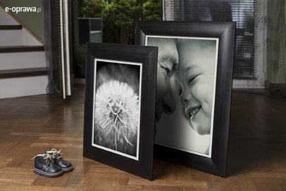 Ramka na zdjęcia i obrazy czarna obła Elba DK