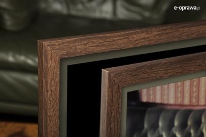 Ramka na zdjęcia i obrazy brąz w odcieniu orzecha Narvik AB