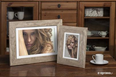 Ramka na zdjęcia i obrazy jasne drewno matowa Lahti AB