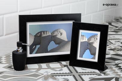 Ramka na zdjęcia i obrazy czarna nowoczesna Lahti AK