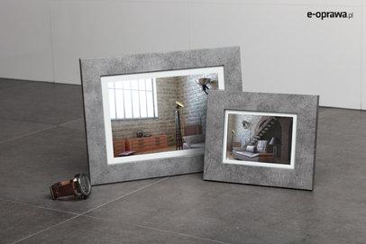 Ramka na zdjęcia i obrazy betonowa matowa Lahti AO