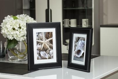 Ramka na zdjęcia i obrazy czarna z zagłębionymi krawędziami Malmo AK