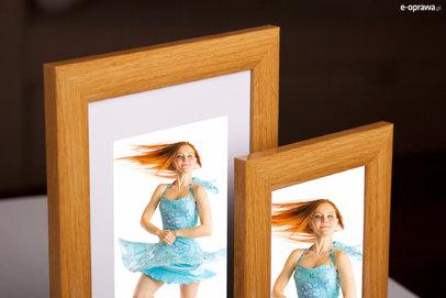 Ramka na zdjęcia i obrazy jasnobrązowa połyskowa Malibu CU