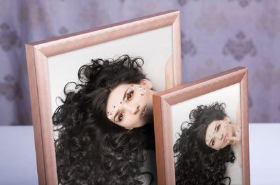 Ramka na zdjęcia i obrazy bursztynowa szczotkowana Alu 5-155