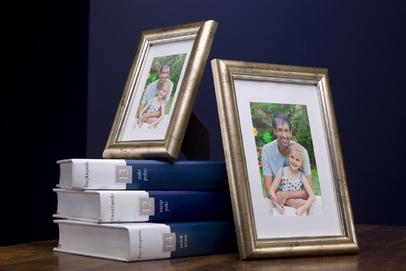 Rama do obrazów i zdjęć złoto-srebrna zaokrąglona Lord GE