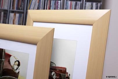 Rama do obrazów i zdjęć jasnobrązowa wypuklona Elba AM