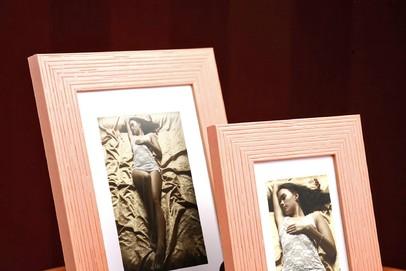 Rama do obrazów i zdjęć cielista paskowana Fenix PA